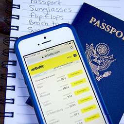 notes passport airbaltic branded app application travel ready planning travel real social UGC photography