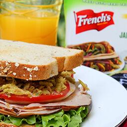 sandwich ham French's ranch dressing juice OJ UGC content