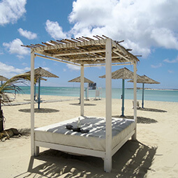 tropic holidays hotel sun-bed bed luxury sun real UG travel content photography